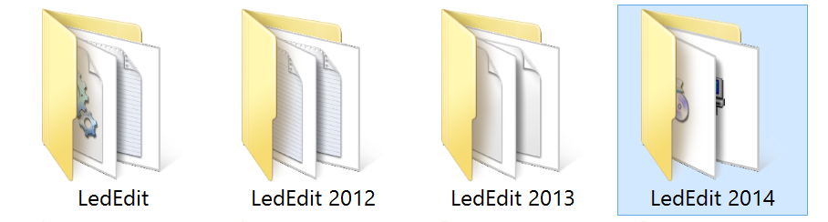 LedEdit_series_program_file_folders