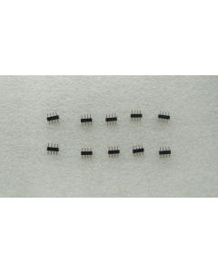 10 pieces of 4-pin male-male RGB 5050 LED connectors