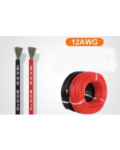 100 meters 12AWG heat-resistant soft silicone cable wire