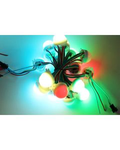 30mm A type 12V 20 nodes LPD6803 WS2801 RGB 5050 LED point light