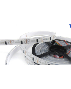 12V 5 meters 300 LEDs IP67 silicone tube waterproof addressable DMX512 SideView RGB 020 LED strip