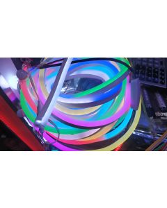 24V 20 meters 1200 LEDs IP67 waterproof WS2811 RGB 5050 LED neon light ribbon