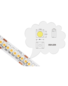 24V 5 meters 1200 LEDs IP20 non-waterproof flexible SMD 3528 LED warm white light strip
