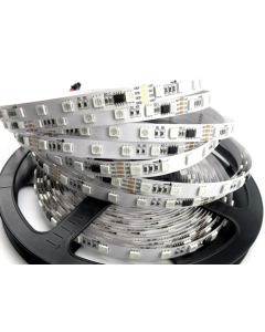 24V 5 meters 300 LEDs IP20 non-waterproof digital programmable GS8206 RGB 5050 LED strip