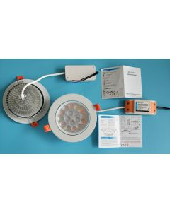 Fut062 futLight MiLight 9W RGB+CCT LED ceiling spotlight
