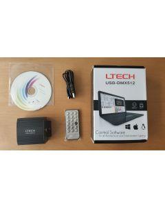LTech LT512 USB-DMX512 IR remote LED master controller