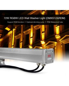 MiBoxer D4-W72 MiLight DMX512 RDM RGBW LED Wall Washer Light