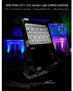 MiBoxer D5-G50 MiLight waterproof 50W DMX512 RDM RGB+CCT LED Garden Light