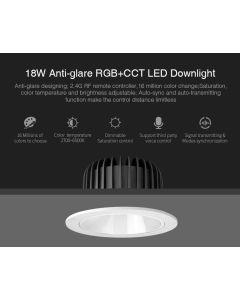 MiBoxer FUT072 MiLight 18W anti-glare RGB+CCT LED ceiling downlight