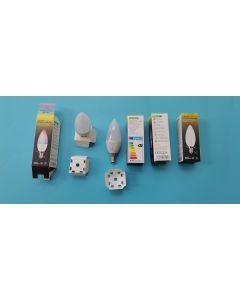 MiBoxer FUT108 MiLight E14 base 4W RGB+CCT LED candle light