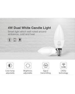 MiBoxer FUT109 MiLight 4W 2 channels dual white color temperature candle light