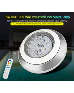 MiLight 15W IP68 UW01 MiBoxer wall-mounted RGB+CCT LED underwater light