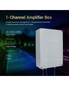 MiLight AC 100-240V input 24V output SYS-PT2 MiBoxer 1-channel amplifier box