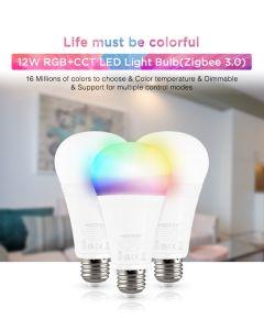 MiLight Fut105Z MiBoxer 12W RGB+CCT futLight LED bulb (Zigbee 3.0)