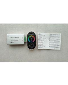 RF remote 8 keys touch aluminum case RGB LED