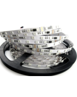 24V 5-meter 300 LEDs IP20 non-waterproof TM1914 integrated lighting effects RGB 5050 strip