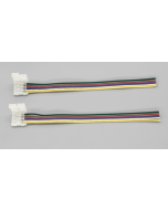 6-pin solderless cable connector for RGBWW 5050 LED light strip