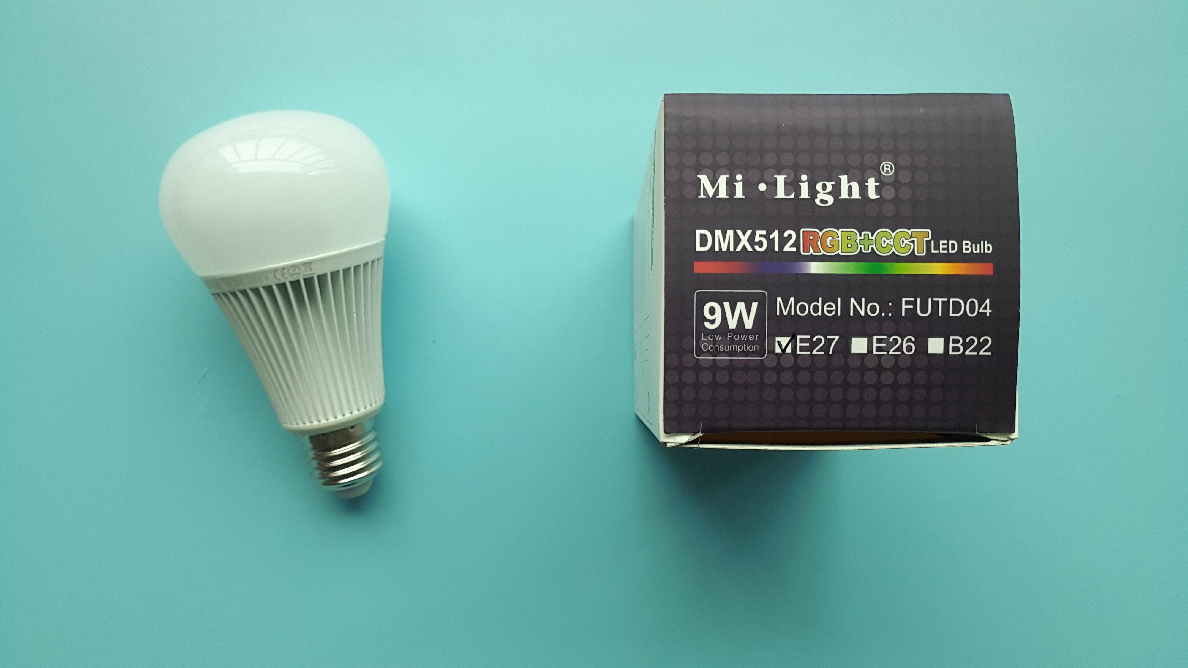 FUTD04 MiLight 9W DMX512 RGB+CCT RGB LED bulb