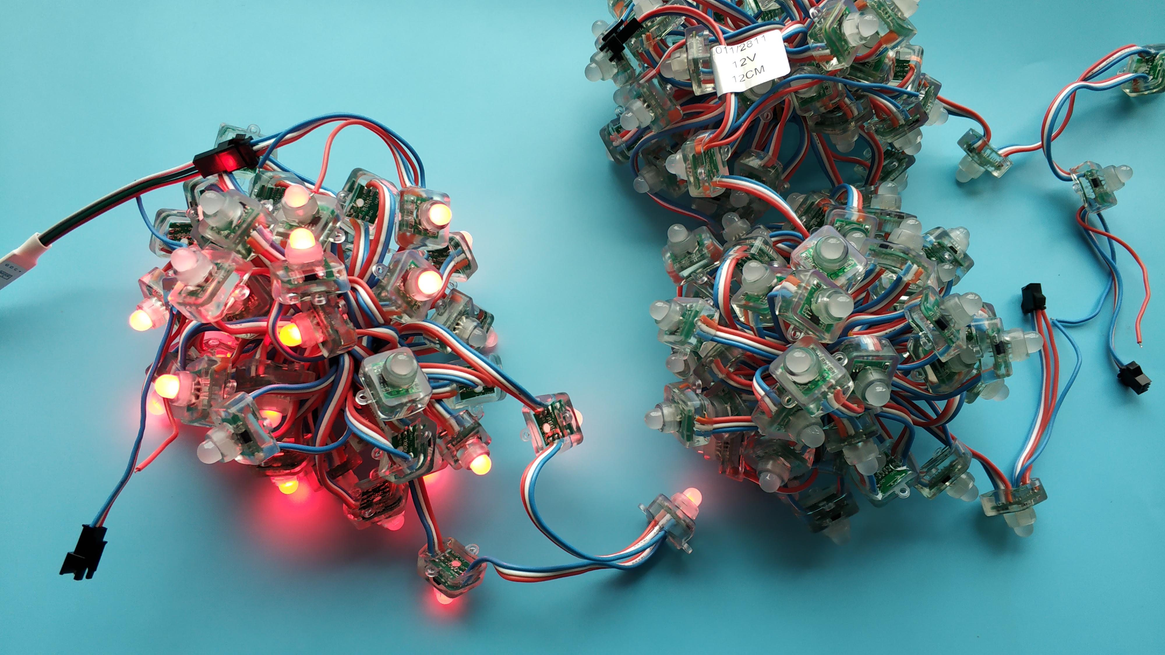 12V WS2811 RGB LED pixel node module string