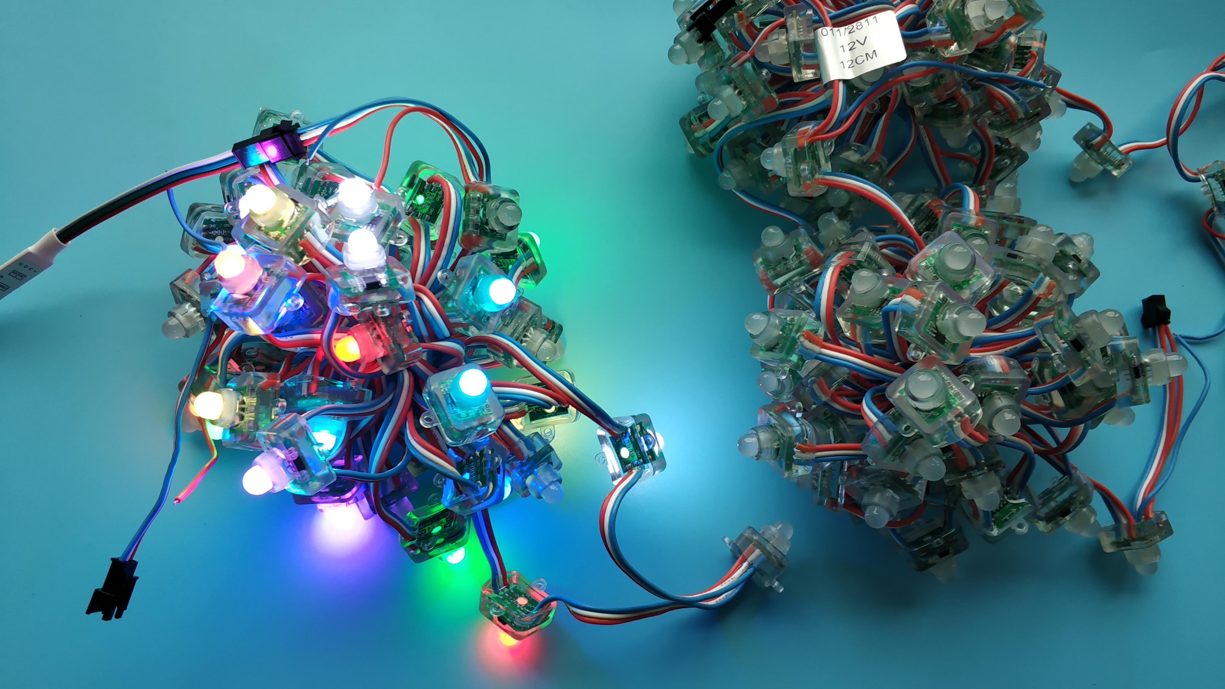 12V WS2811 RGB LED pixel node string