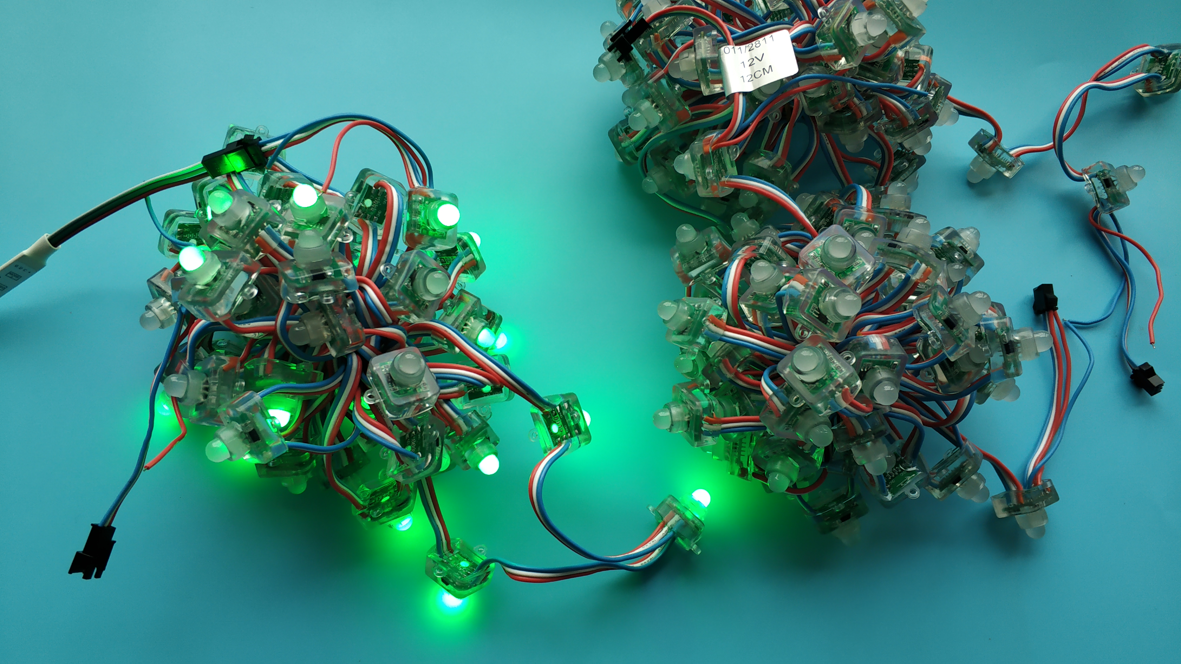 12V waterproof WS2811 RGB LED pixel node string