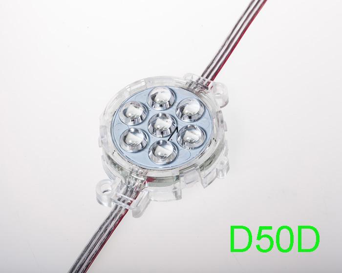 50mm 24V D type SM16703 RGB 5050 LED point light