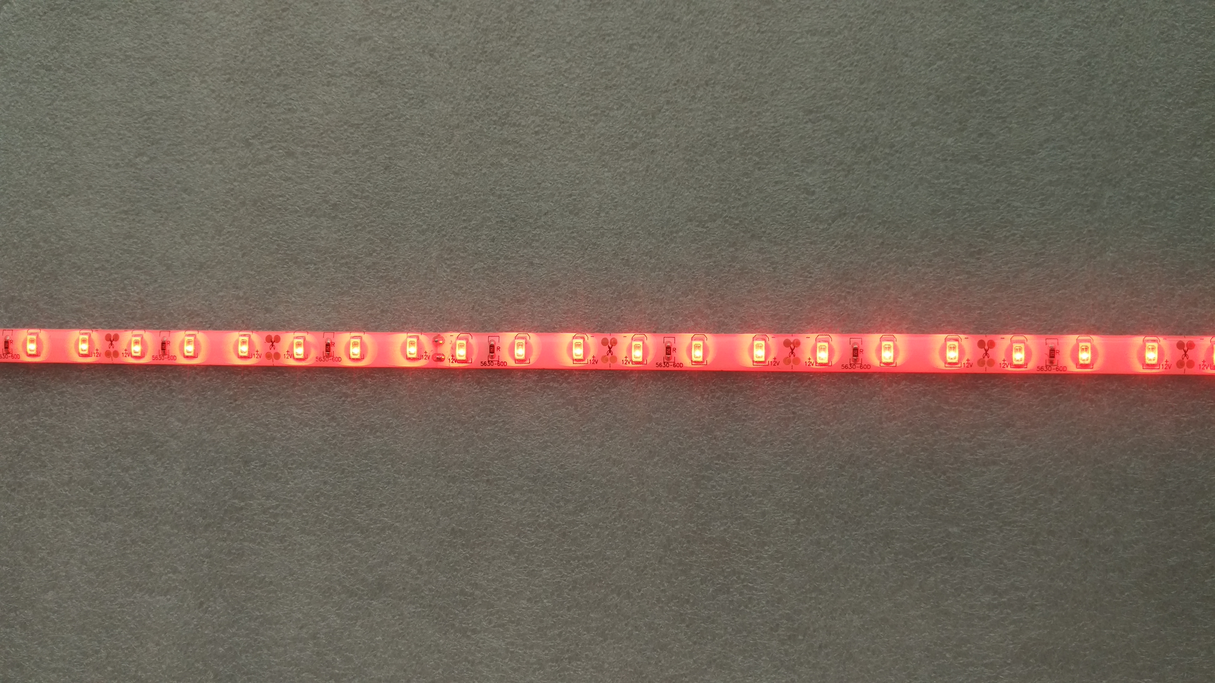 12V 5 meters 300 LEDs IP65 waterproof SMD 5630 5730 red light LED strip
